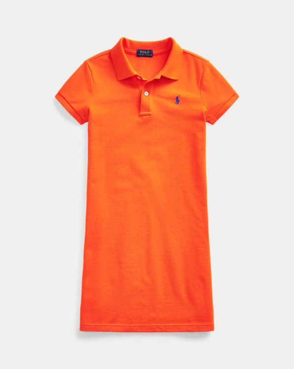 폴로 랄프로렌 Polo Ralph Lauren Cotton Mesh Polo Dress,Sailing Orange