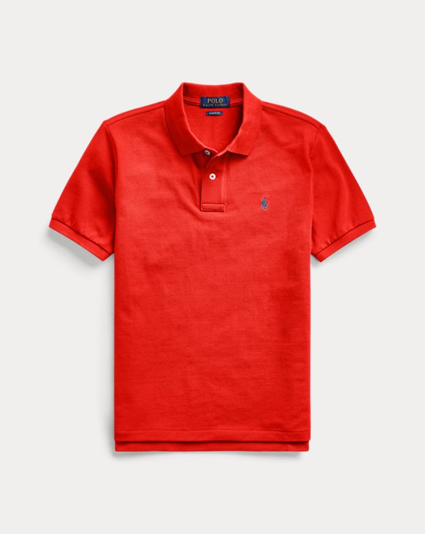 Polo in piqué di cotone Custom-Fit