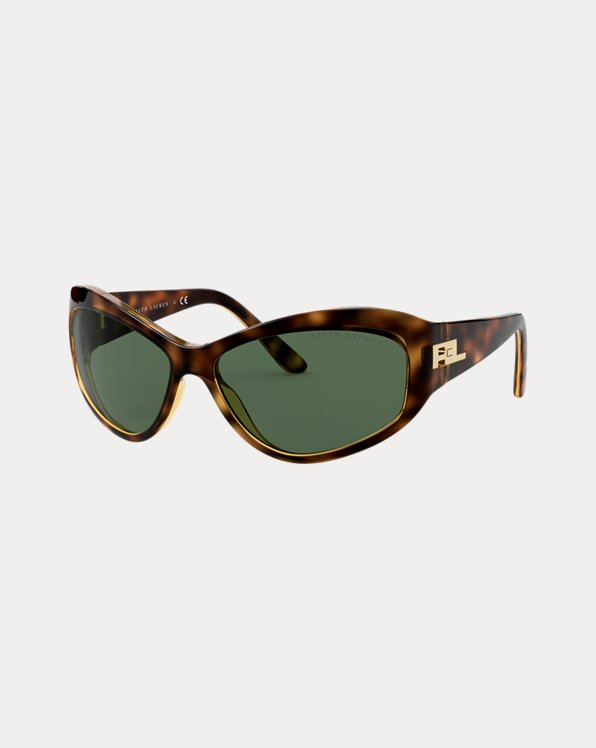 Cat-Eye Wraparound Sunglasses