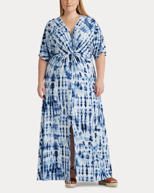 Tie-Dye Linen Dress