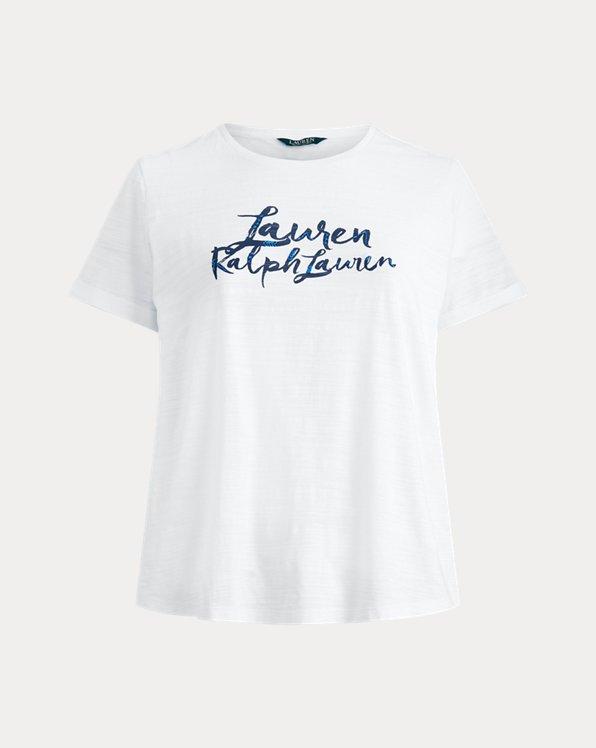 Maglietta in cotone con logo