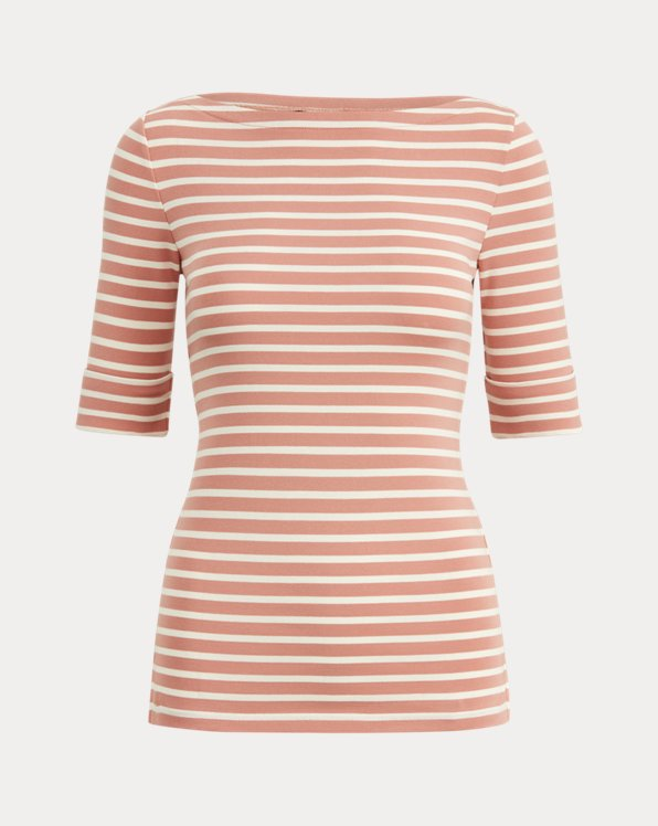 Striped Cotton-Blend Top