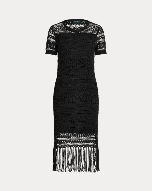 Pointelle Short-Sleeve Dress