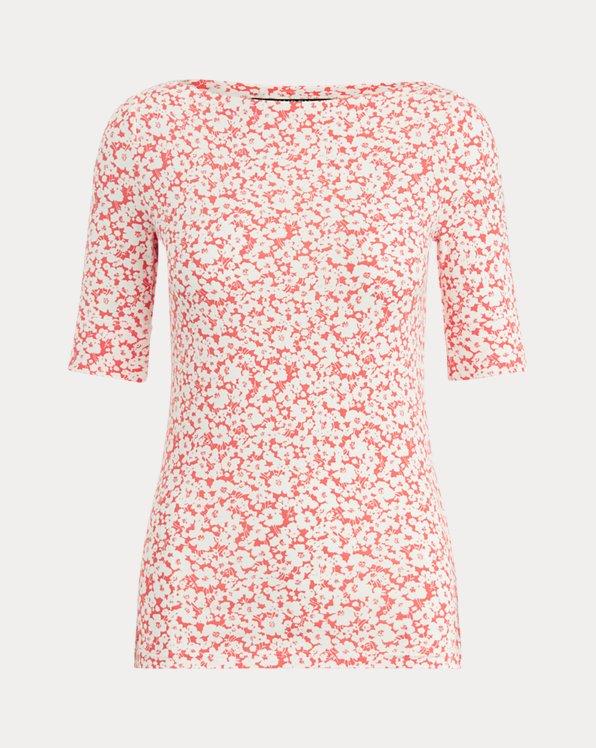 Floral Cotton-Blend Top
