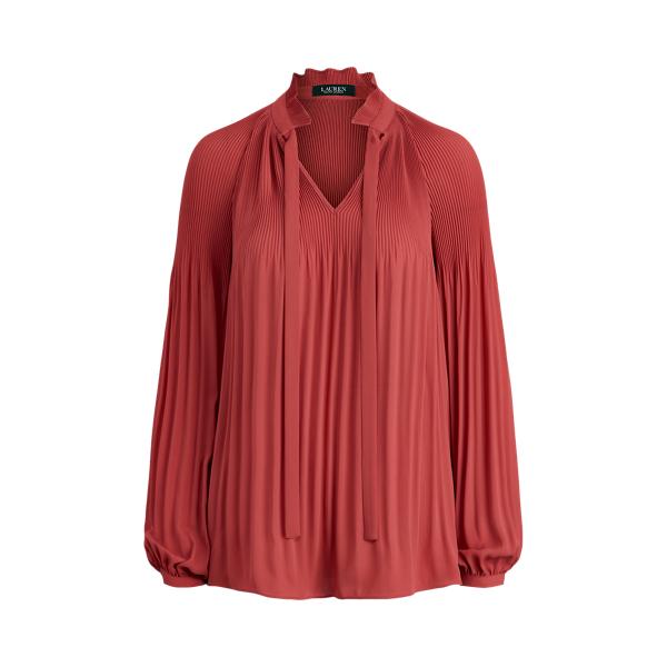 폴로 랄프로렌 Polo Ralph Lauren Georgette Tie-Neck Top,Moroccan Pink