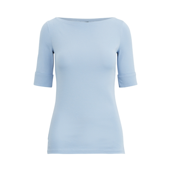 폴로 랄프로렌 Polo Ralph Lauren Cotton-Blend Boatneck Top,Estate Blue