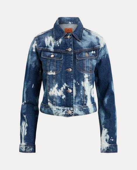 Bleach-Dye Denim Jacket