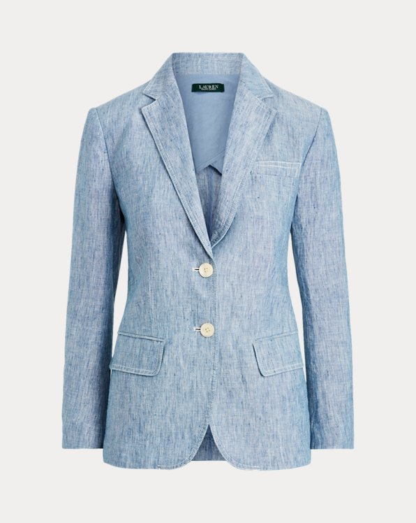Blazer in chambray e lino