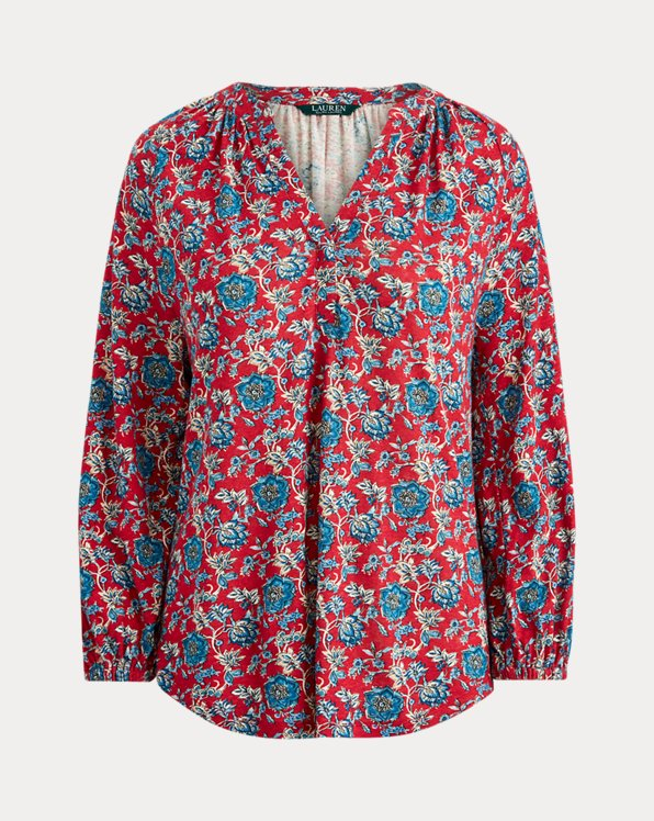 Floral Linen Jersey Shirt