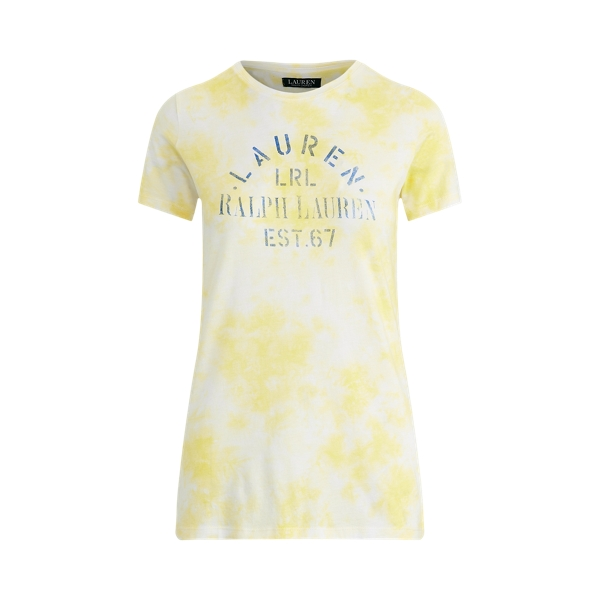 폴로 랄프로렌 Polo Ralph Lauren Tie-Dye Cotton-Blend Tee,Hampton Yellow Multi