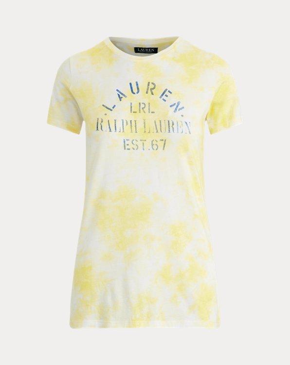 T-shirt en coton mélangé tie-dye