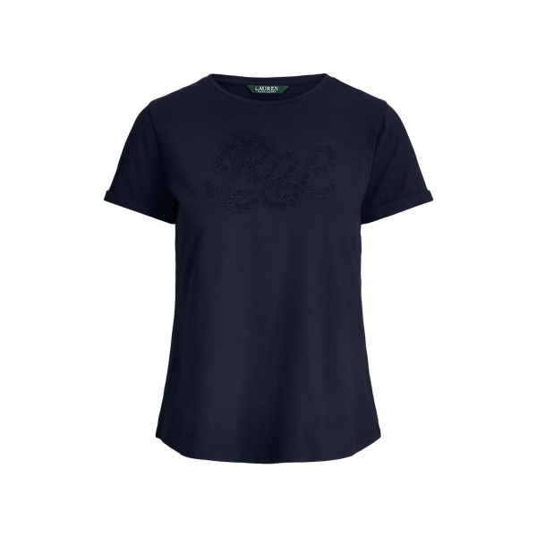 폴로 랄프로렌 Polo Ralph Lauren Logo Cotton-Blend Tee,Lauren Navy