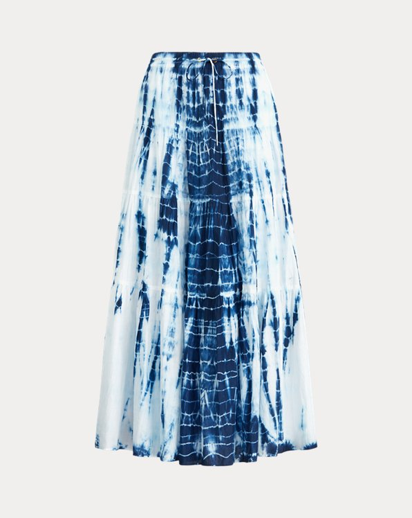 Tie-Dye Tiered Peasant Skirt