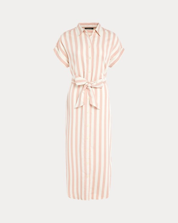 Striped Twill Shirtdress