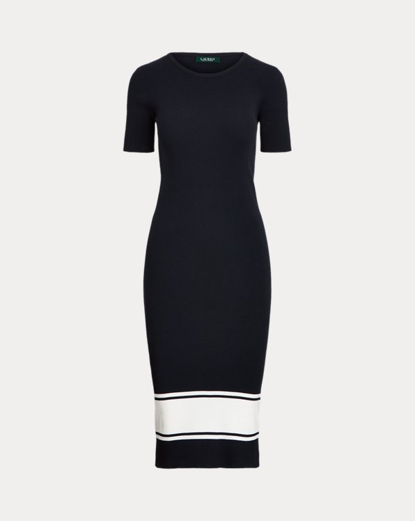 Ribbed Cotton-Blend Dress