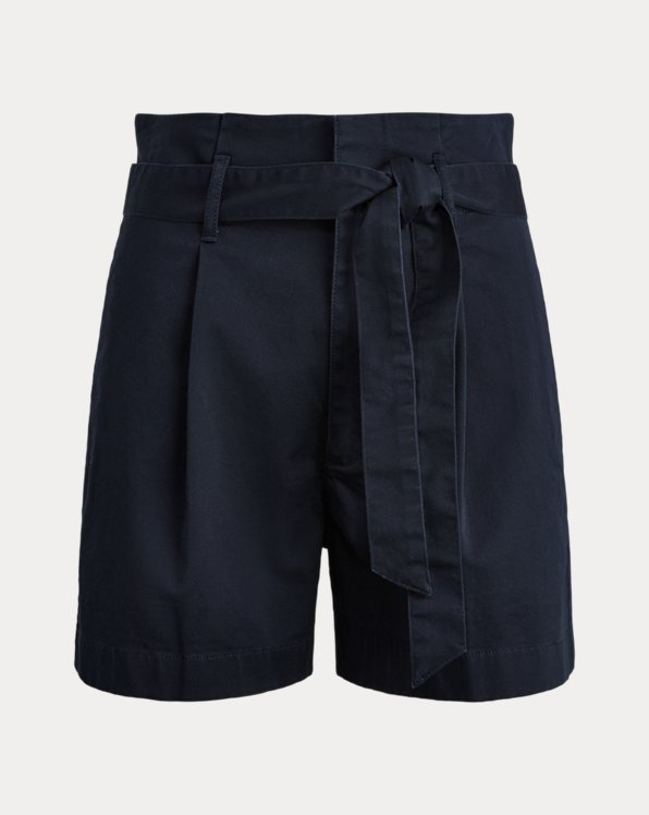 High-Rise Cotton Twill Short