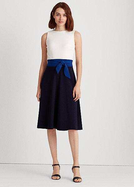 Three-Tone Jersey Dress