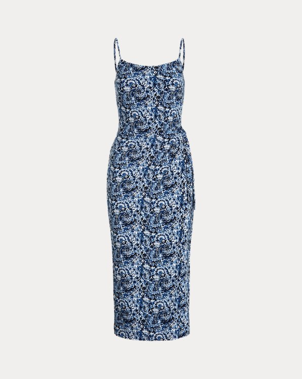 Floral Midi Jersey Dress