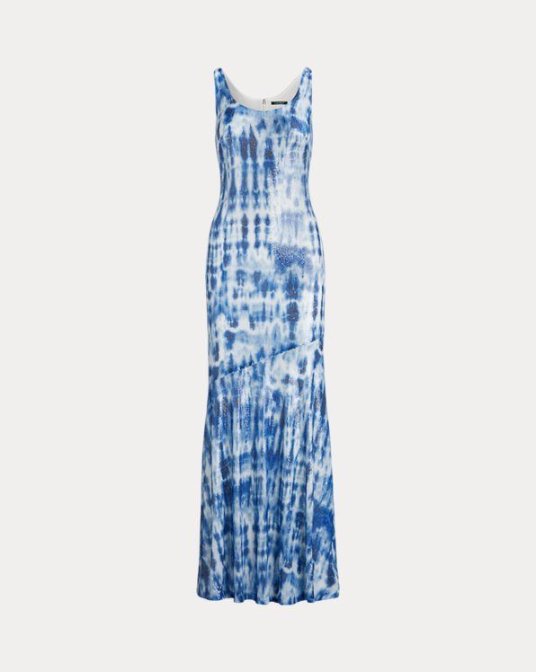 Sequinned Tie-Dye Maxidress