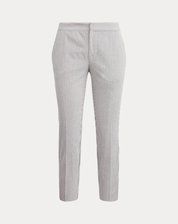 Seersucker Straight Trouser
