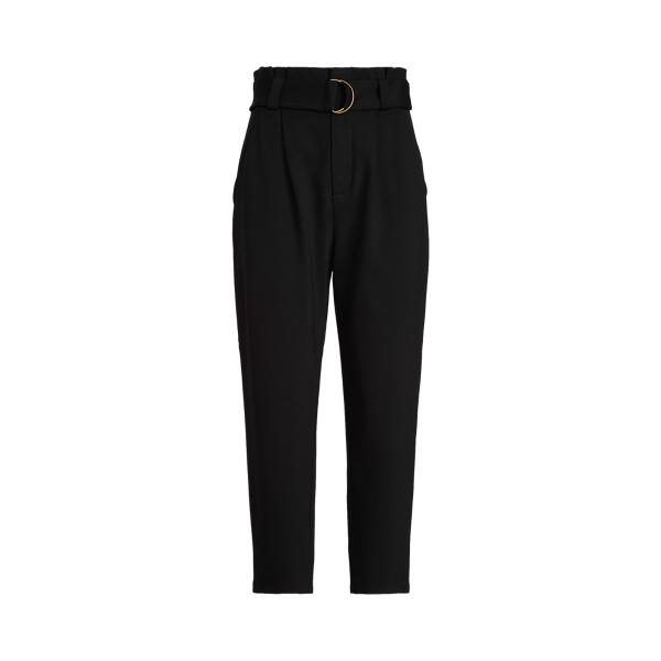 Lauren Ralph Lauren Belted Ponte Pant In Polo Black