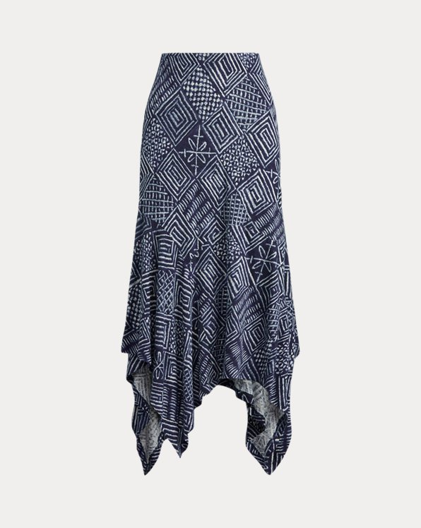 Print Asymmetrical Skirt