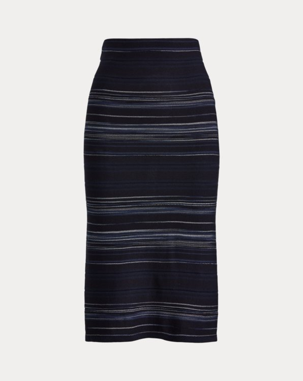Striped Stretch Cotton Skirt