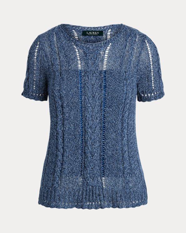 Cable-Knit Linen-Blend Jumper