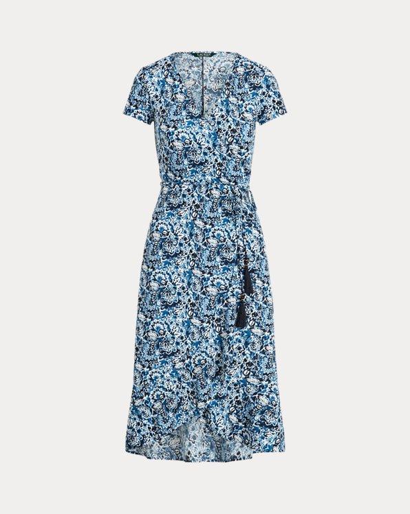 Mattes Jerseykleid mit Blumenmuster