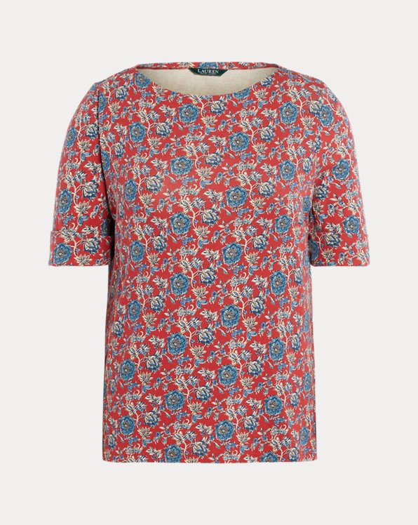 Floral Cotton-Blend Top