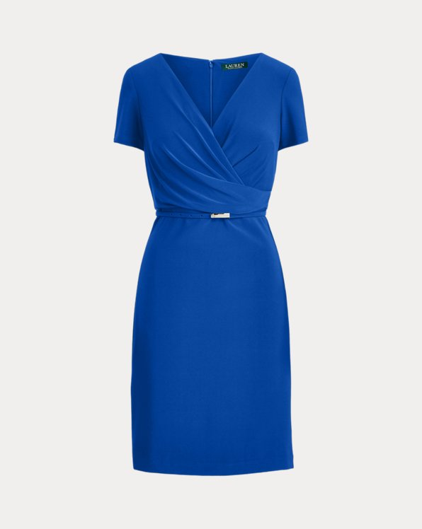 Surplice Matte Jersey Dress