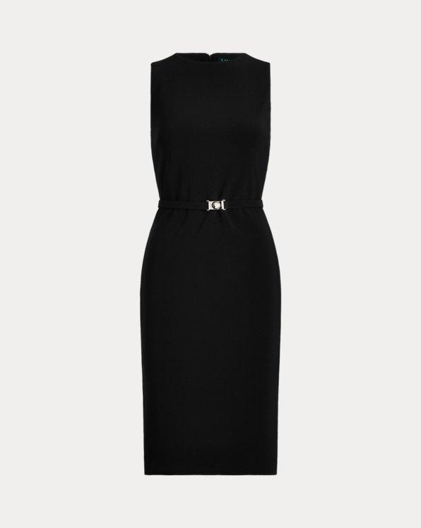 Belted Matte Jersey Dress