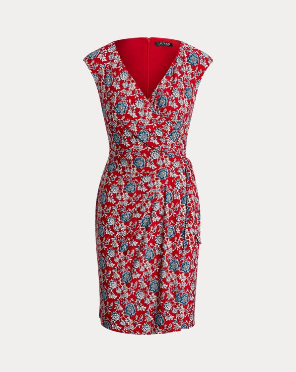 Floral Jersey Wrap-Style Dress