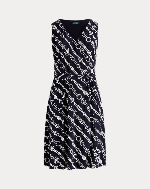 Print Tie-Waist Jersey Dress
