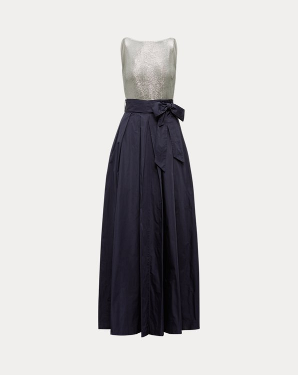 Metallic-Taffeta Gown