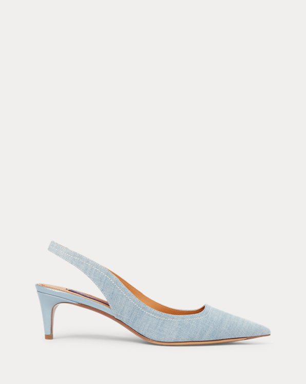 Cleo Cotton Chambray Pump