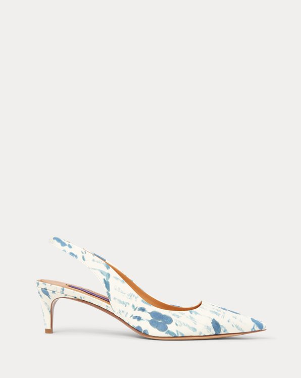 Cleo Print Cotton Pump
