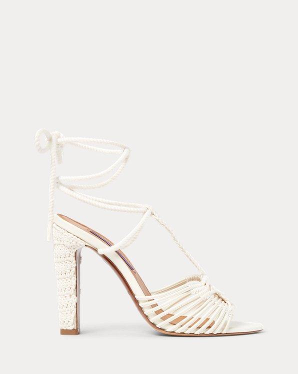 Tenley Cotton-Leather Sandal