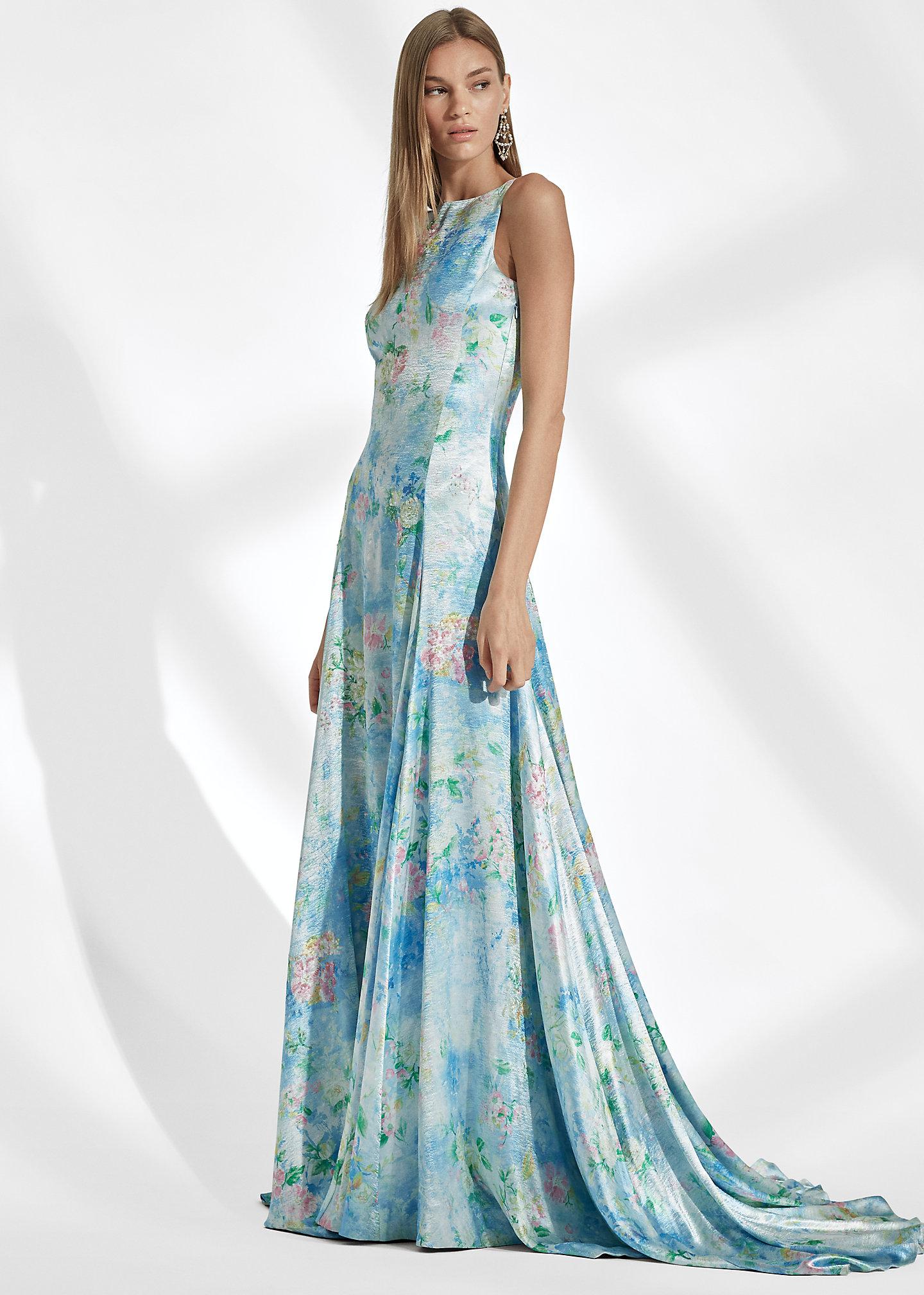 Ralph Lauren Collection Abito da sera Nancie a fiori 1