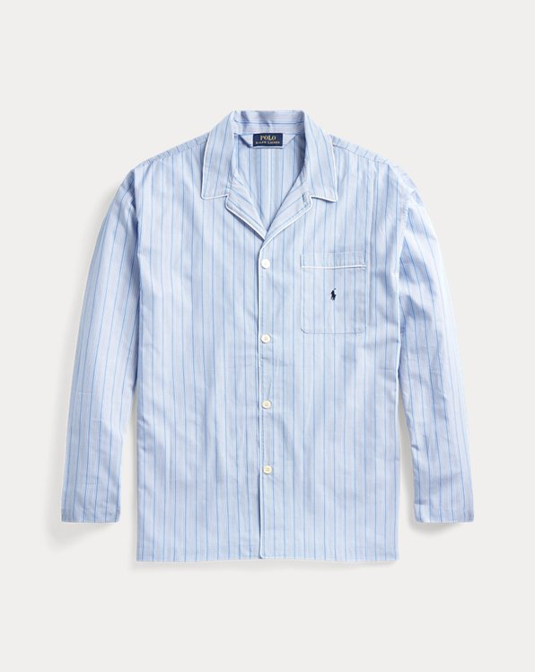 Striped Cotton Pajama Shirt