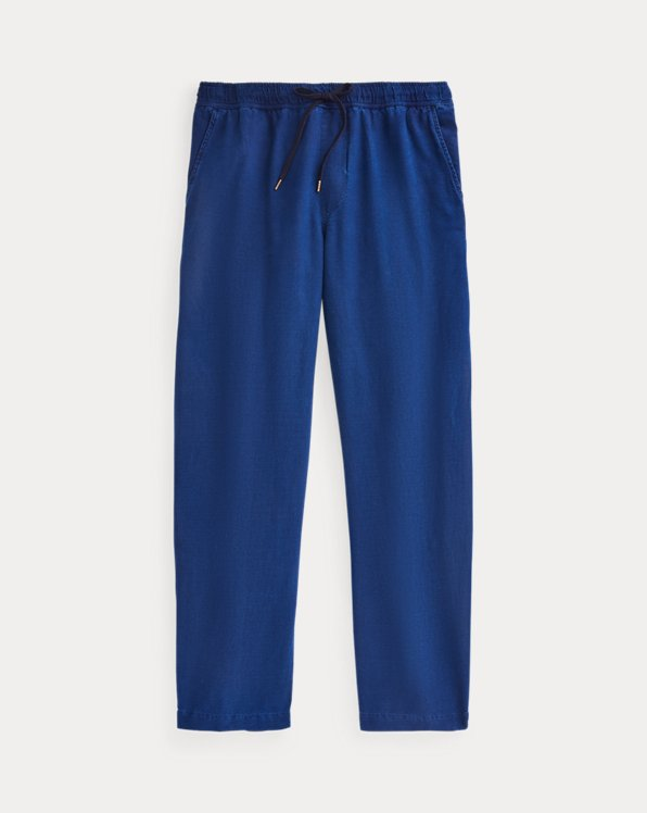 Relaxed Fit Indigo Oxford Trouser
