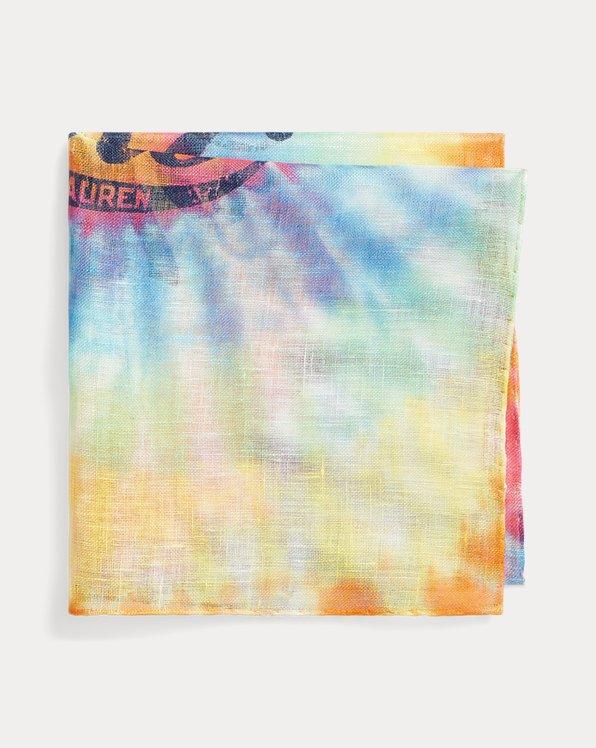 Tie-Dye Linen Pocket Square