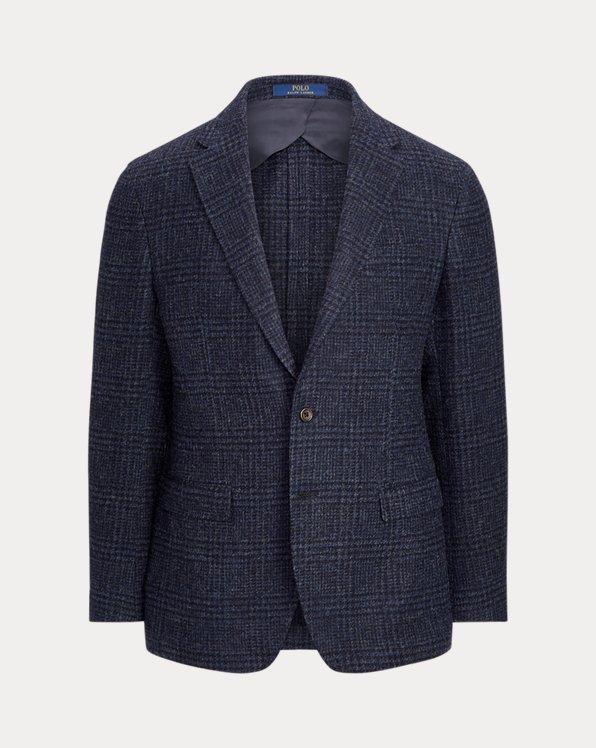 Kariertes Polo-Soft-Sakko aus Wolle