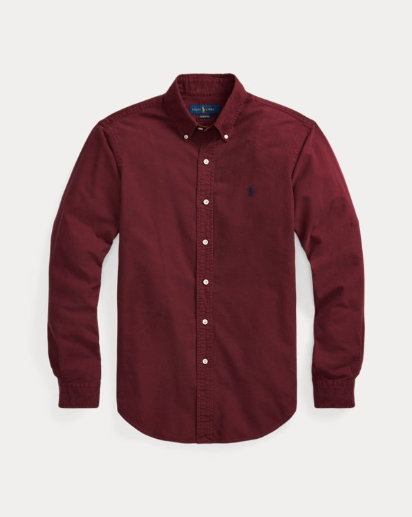Slim Fit Garment-Dyed Oxford Shirt