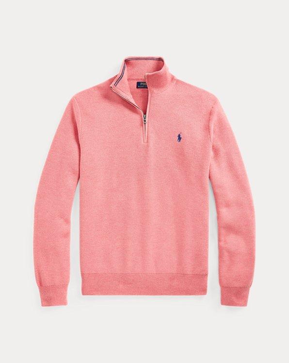 Cotton Quarter-Zip Sweater