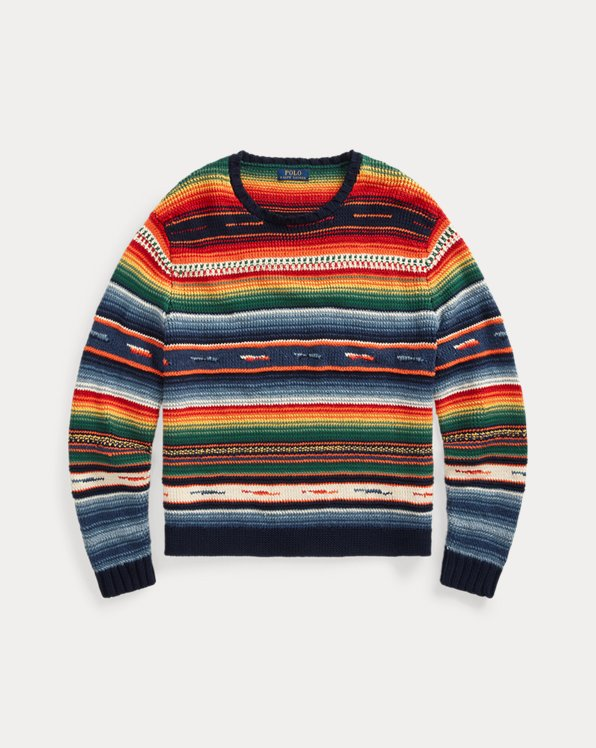 Serape Cotton-Blend Sweater