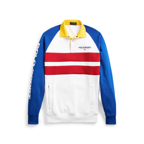 폴로 랄프로렌 Polo Ralph Lauren Polo Sport Rugby Sweatshirt,Pure White Multi