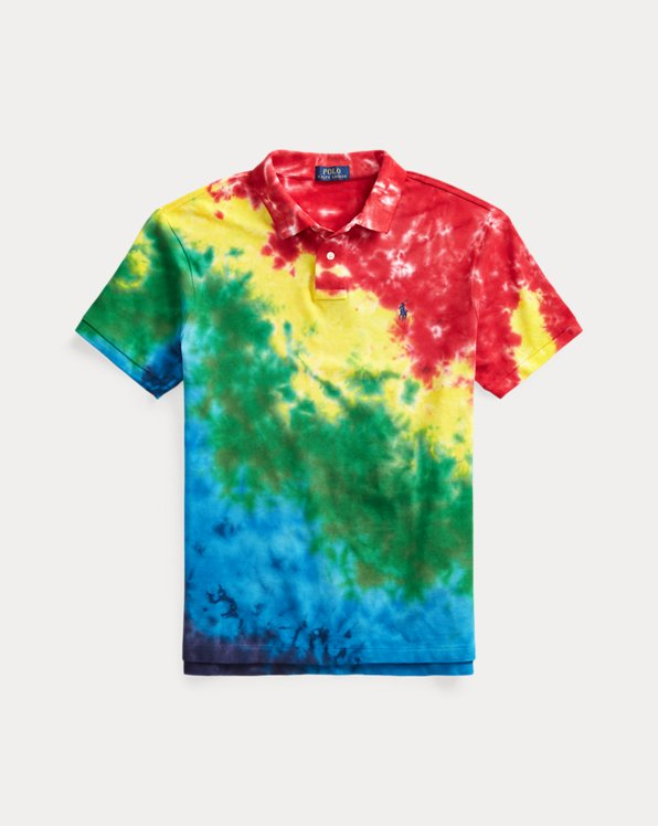 Custom Slim-Fit Tie-Dye Polo