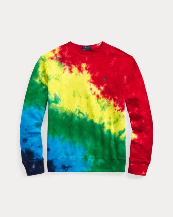Terry-Sweatshirt in Batik-Optik
