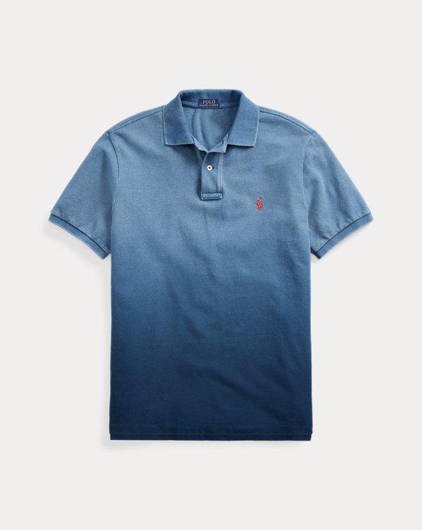 Custom Slim Fit Indigo Mesh Polo Shirt
